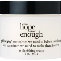 Philosophy When Hope is Not Enough Replenishing Cream, 2 Ounce:Amazon:Beauty