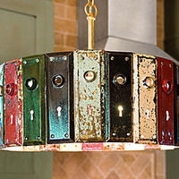 Antique Key Plate Pendant Light - Lighting - Home & Garden - NapaStyle