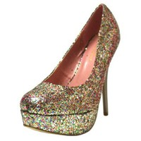Sexy Multi Color Glitter Platform High Heel Pumps