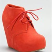 Coral Wedge Bootie