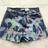 Painted High Waisted Shorts 26 inches