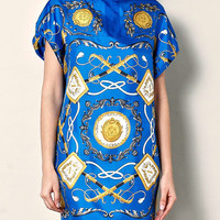 Silk scarf-print dress | DG | Matchesfashion.com