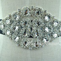 Crystal Bridal Sash Rhinestone Wedding Belt Black Bridal Sash Wedding Dress Belt