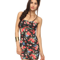 Bold Floral Print Bodycon Dress | FOREVER21 - 2000039557