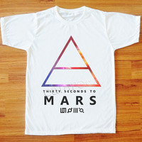 Galaxy 30 Seconds to Mars T-Shirt Alternative Rock T-Shirt Galaxy T-Shirt Women Tee Shirt Men T-Shirt Unisex T-Shirt White T-Shirt S,M,L,XL