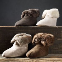Luxe Faux Fur Booties | Booties | Restoration Hardware