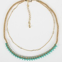 BKE Spike and Chain Necklace - Women's Accessories | Buckle