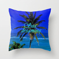 SEA DREAMS Throw Pillow by catspaws
