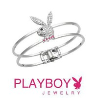 Licensed Playboy Bunny Clasp Jeweled Bracelet Sexy Fashion Authentic Jewelry