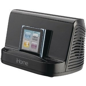 iHome iHM16B Portable Stereo Speaker System for iPad, iPod and MP3 Player (Black)