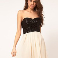 TFNC | TFNC Dress with Sequin Bandeau & Chiffon Skirt at ASOS