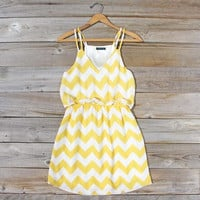 By Land or By Sea Dress in Yellow, Sweet Women's Bohemian Clothing