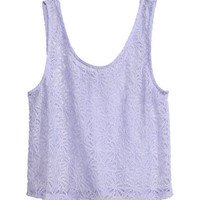 Sleeveless lace top - from H&M