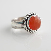 janice stevenson — Rose Cut Carnelian Ring