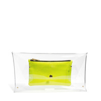 Klear Klutch | Klear Klutch Large Transparent Clutch Bag with Leather Pouch at ASOS