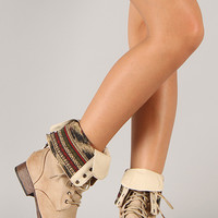 Wild Diva Lounge Jetta-25F Military Lace Up Boot