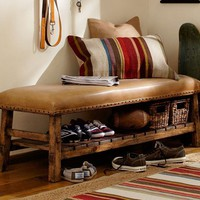 Caden Leather Bench