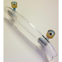 Bling Diamond Flex Zinger Perspex Cruiser Skateboard