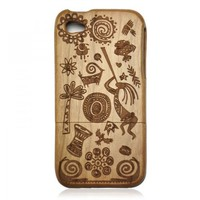Generic Vintage Walnut Case for iPhone 4 / 4s - The African Dream Color Wood