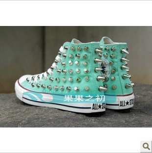 converse canvas shoes zipper rivet mint from fashionpenny on