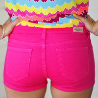 Walk The Walk Shorts: Hot Pink | Hope's
