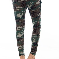 Command Chic Baggy Camouflage Print Pants - Olive Green from Glam at Lucky 21 Lucky 21