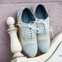 Bumper Nady-01 Lace Up Oxford (Beige) - Shoes 4 U Las Vegas