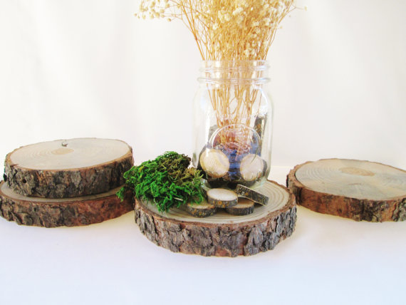 Wood centerpiece set of wedding from divine rustic