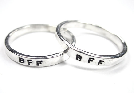 set of bff rings best friends rings from clintonstudios
