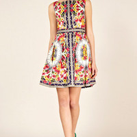 Oasis Shop | Multi Scarf Print Dress | Womens Fashion Clothing | Oasis Stores UK