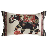 Royal Elephant Oblong Pillow