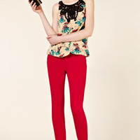 Oasis Shop | Multi Natural Embellished Neck Top | Womens Fashion Clothing | Oasis Stores UK