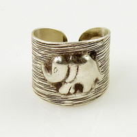 Elephant Animal Wrap Ring