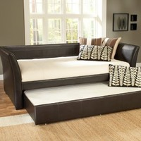 Hillsdale Furniture 1519DBT Malibu Day Bed, Brown Leather:Amazon:Furniture & Decor