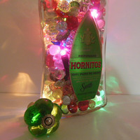 Liquor Bottle Lamp - Up Cycled Bottle Lights - Home Bar Light