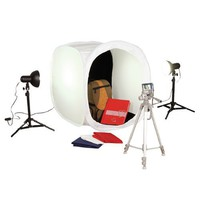 Square Perfect SP500 Platinum Photo Studio In A Box with 2 Light Tents  8 Backgrounds For Product Photography