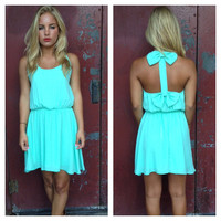 Mint Double Bow Back Dress