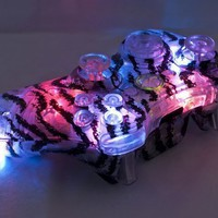 TIGER STRIPE LED Xbox 360 Modded Controller (Rapid Fire Mod) COD BLACK OPS 2, MW3, MW2:Amazon:Video Games