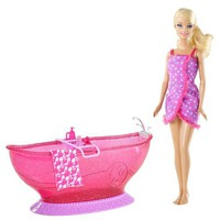 Barbie Bath Tub And Barbie Doll Playset