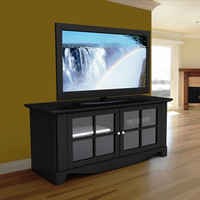 "Furniture Canada — TV Stands | Pinnacle 56"" Black TV Stand"