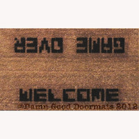 80's style Video Game GAME OVER  WELCOME doormat