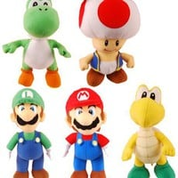 Nintendo Mario Bros Plush Series 2 - 6'' Plush Figure (Set of 5) [Toy]