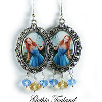 Tim Burton Alice Earrings Altered Art