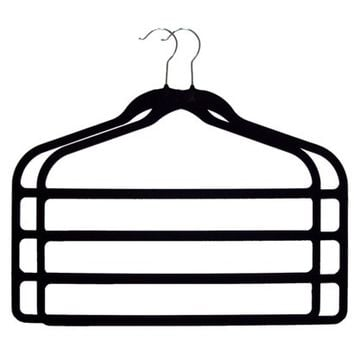 Joy Mangano 2-pc. Huggable Hangers® 4 Bar Hangers - Black