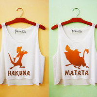 Hakuna Matata Best Friends Tank Tops