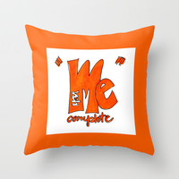 You Complete Me Throw Pillow by Claudia McBain