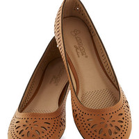 Haute of Doors Flat in Clay | Mod Retro Vintage Flats | ModCloth.com