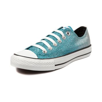 Converse All Star Lo Glitter Athletic Shoe, Turquoise Silver | Journeys Shoes