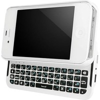 BoxWave Keyboard Buddy iPhone 4/4S Case - Backlit Edition - Bluetooth Keyboard Case with Integrated Apple Commands and Backlit Keys for Apple iPhone 4/4S (Winter White)