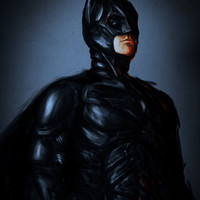 DARK KNIGHT ( Portrait Version)  Art Print by Chuck Jackson